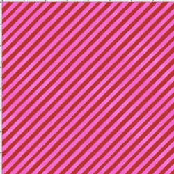 Bias Stripe Bold Red / Pink Fabric