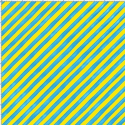 Bias Stripe Bold Yellow / Turquoise Fabric