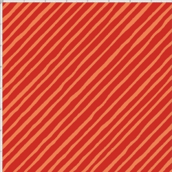 Bias Stripe Red / Orange Fabric
