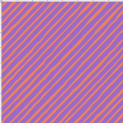 Bias Stripe Purple / Orange Fabric