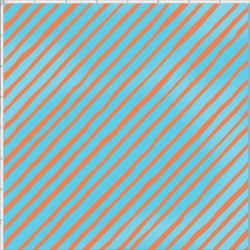 Bias Stripe Turquoise / Orange Fabric