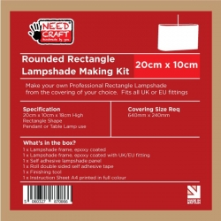Rounded Rectangle Lampshade Making Kit 10cm x 20cm