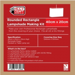 Rounded Rectangle Lampshade Making Kit 20cm x 40cm