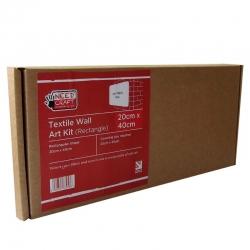 Textile Wall Art Kit Rectangle 20cm x 40cm