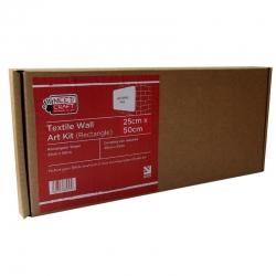 Textile Wall Art Kit Rectangle 25cm x 50cm