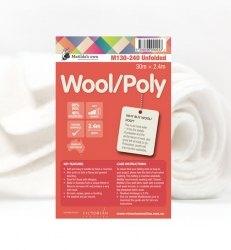 Wool 60/Poly 40 2.4m x 30m Unfolded Roll