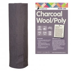 Charcoal Wool 60/Poly 40 2.4m x 30m Roll