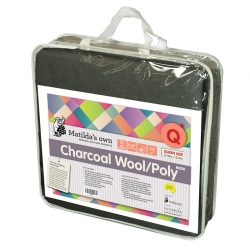 Charcoal Wool 60/Poly 40 Queen Size Precut 2.4m x 2.7m