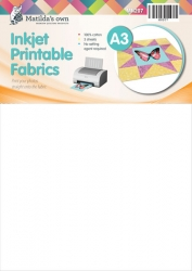 A3 Inkjet Printable Fabric (5 Sheets)