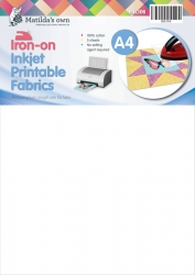 Iron on A4 Inkjet Printable Fabric (3 Sheets)