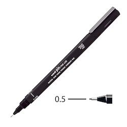 Uni Pin Fineliner Black 0.5mm
