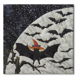 Bat in the Hat (Pieced Quilt)