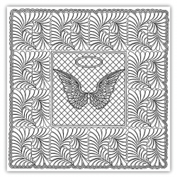 Angel Baby Wholecloth Quilt Pattern