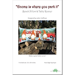 Gnome Is Where You Park It Bench Pillow & Table Runner
