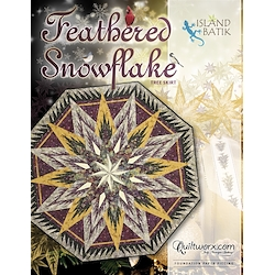 Feathered Snowflake Tree Skirt