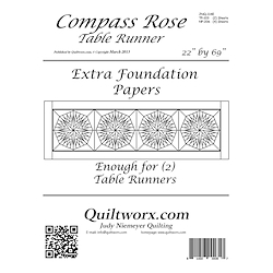 Compass Rose Table Runner Extra Foundation Papers