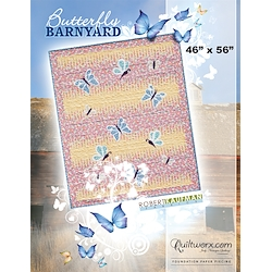 Butterfly Barnyard Baby Blanket