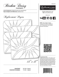 Broken Daisy Placemat Replacement Papers