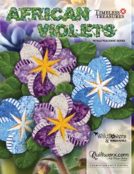 Judy Niemeyer - African Violets ~ Petal Placemat Series
