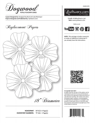 Dogwood Replacement Papers - Petal Placemat Series