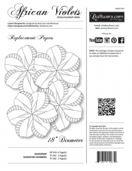 Judy Niemeyer - African Violets replacement papers~ Petal Placemat Series