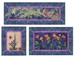 Squirrels-Spiderwort-California Poppy & Complete Quilt Instructions