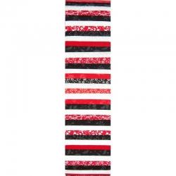 Rainbow Precut 2.5 inch #0075 Strong Red/White/Black