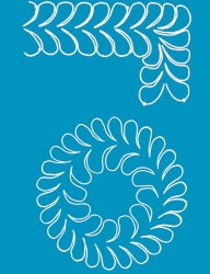 S715 Feather Wreath 9in w/Border