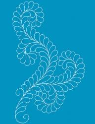 Fancy Feather II A3 Stencil