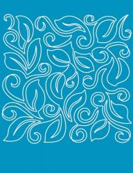 Leaf Swirl Block A3 Stencil