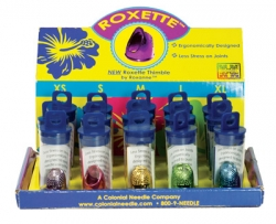15 Roxette Thimbles 3 of each XS, S, M, L, XL with Display Box