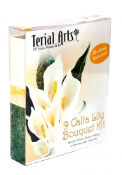 Calla Lillies Bouquet Kit Ivory - Terial Arts.