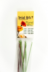 Floral Wire Stems - Terial Arts. 36 pcs. 12 each Red Green White