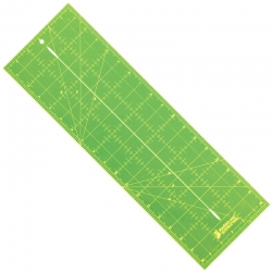 Bias Ruler with Slit - 18in x 6.5in