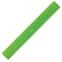 Dual Metric/Imperial Ruler - 24in x 3in