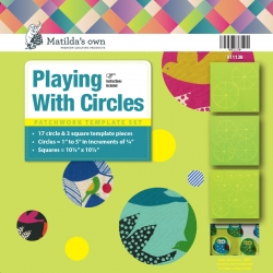 Playing with Circles (17 Circles + 3 Squares) - 1in to 5in