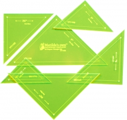 Triangle Set 90deg (6 Templates) - 2.5in to 5in