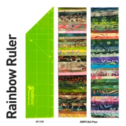 Rainbow Ruler - 2.5in x 10in