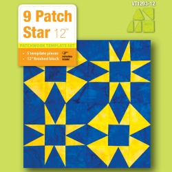 9 Patch Star - 12in Finished