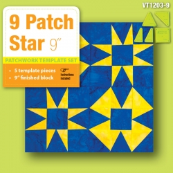 9 Patch Star - 9in Finished