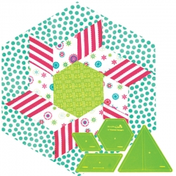 12in Pinwheel Hexagon - 12in Widest