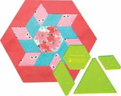 Pinwheel Hexagon - 8in Widest