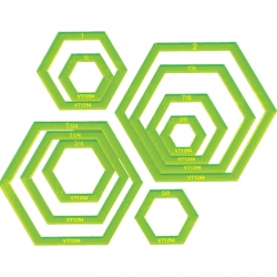 Hexagon Donut Set - 3/8in to 2in